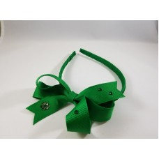 Small Bow Headband with Crystals